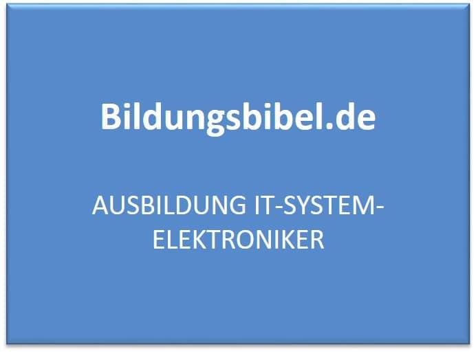 Ausbildung IT-System-Elektroniker - Voraussetzungen, Gehalt, Dauer und Inhalt