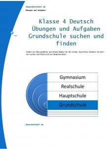 Deutsch Übungen und Aufgaben Klasse 4 Grundschule