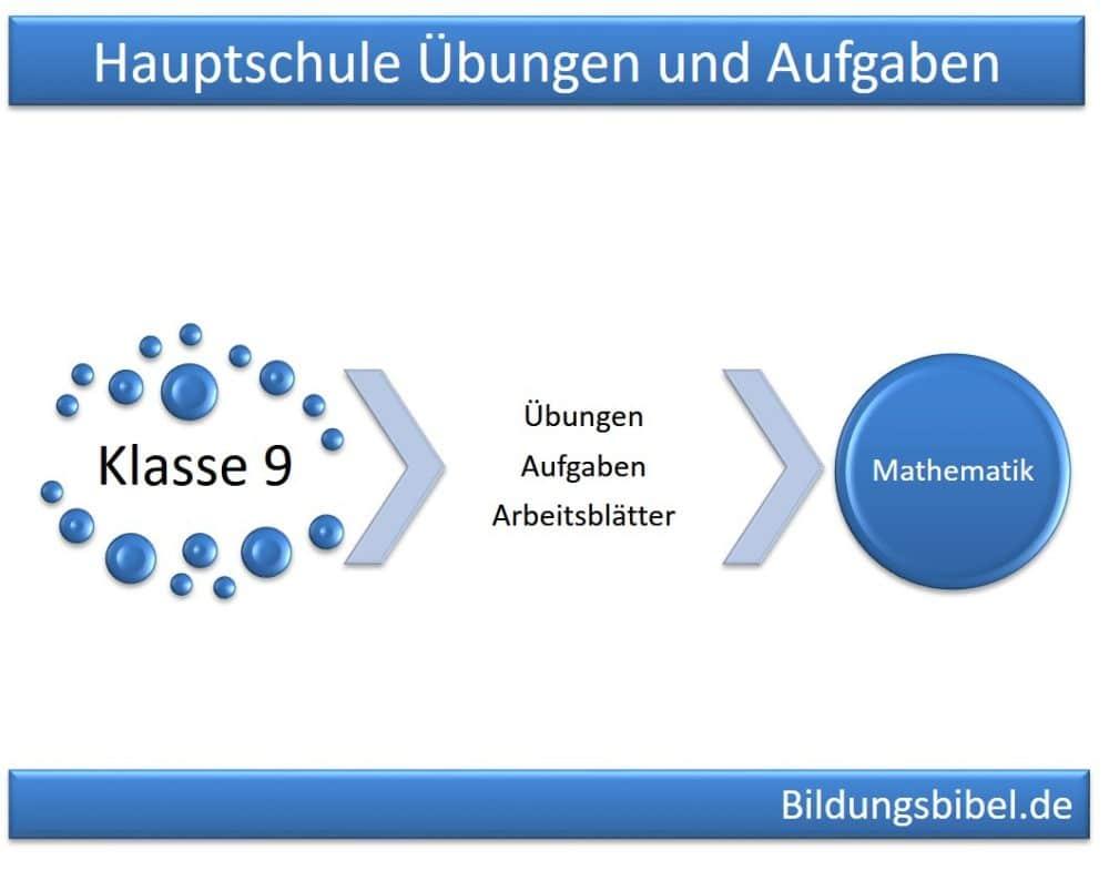 Mathematik Klasse 9, Hauptschule Übungen, Aufgaben, Arbeitsblätter 9 ...