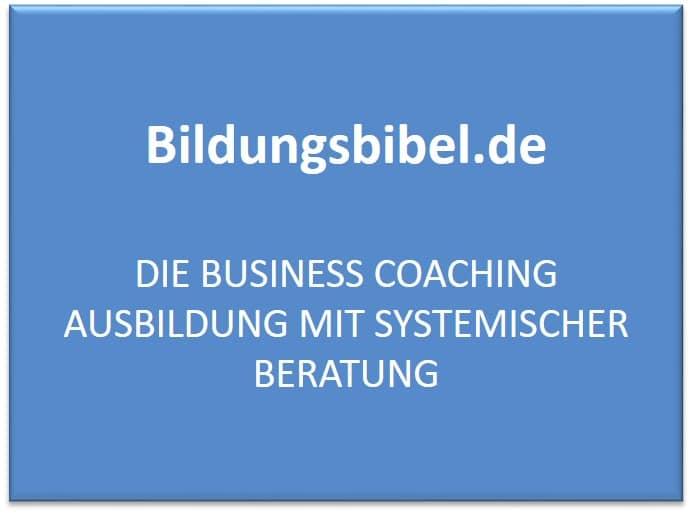 Business Coaching Ausbildung mit systemischer Beratung im NLP