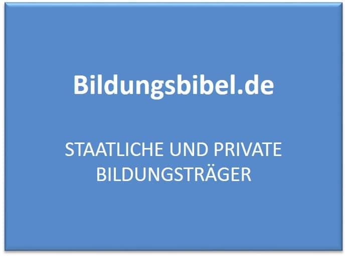 Die staatlichen und privaten Bildungsträger in Deutschland, Rechtsform und Beispiele