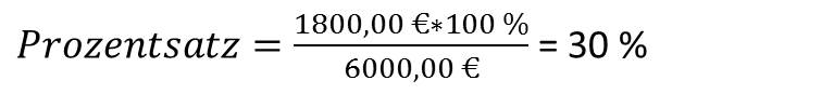 Prozentrechnen Prozentsatz berechnen Beispiel 2