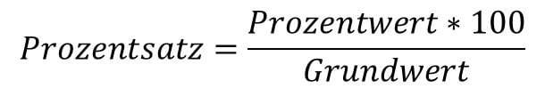 Die Formel zur Berechnung des Prozentsatzes in der Prozentrechnung