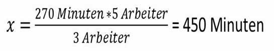 Einfacher Dreisatz, ungerades, indirektes oder antiproportionales Verhältnis