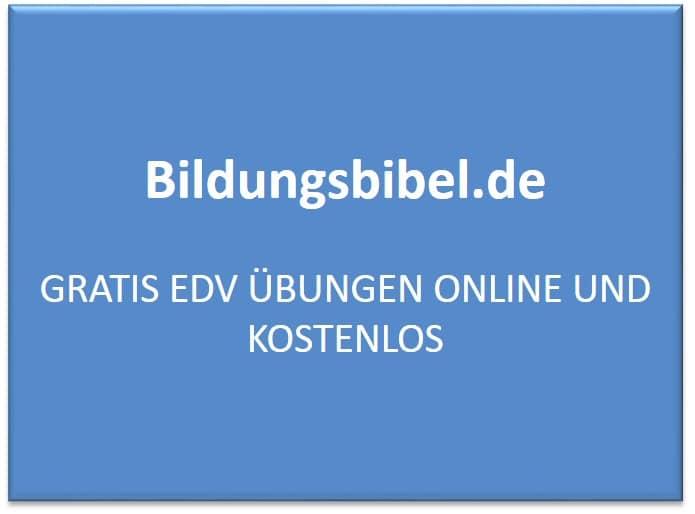 Gratis EDV Übungen online und kostenlos