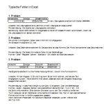 Probleme und Fehler von Anfängern in Excel