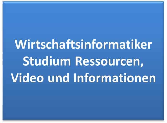 Wirtschaftsinformatiker Studium Ressourcen, Video und Informationen