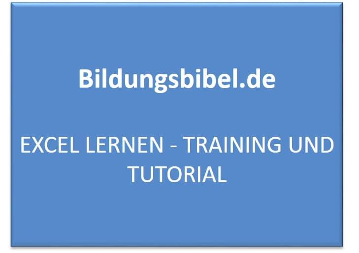 Excel lernen, Tutorial, Training kostenlos online lernen