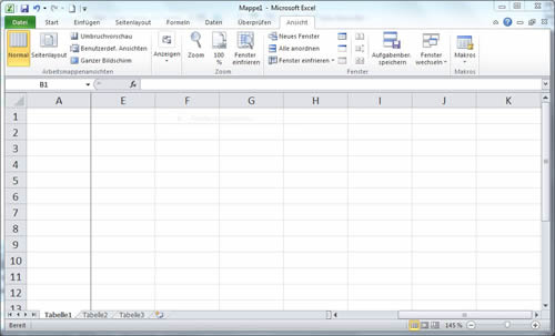 Excel Spalte einfrieren oder fixieren