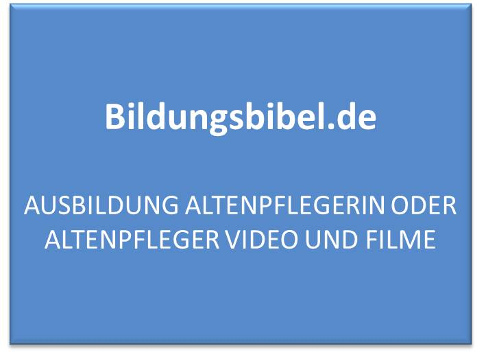 Ausbildung Altenpflegerin oder Altenpfleger Video und Filme