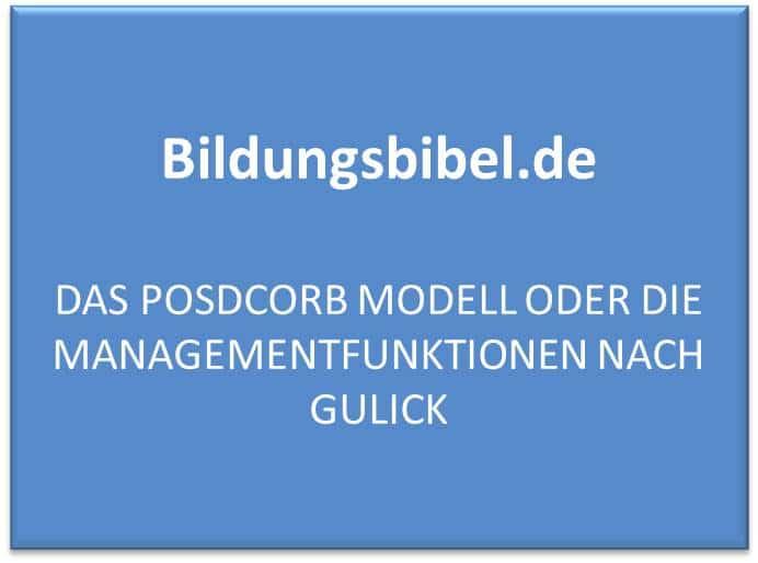 Management lernen - POSDCORB Modell nach Gulick