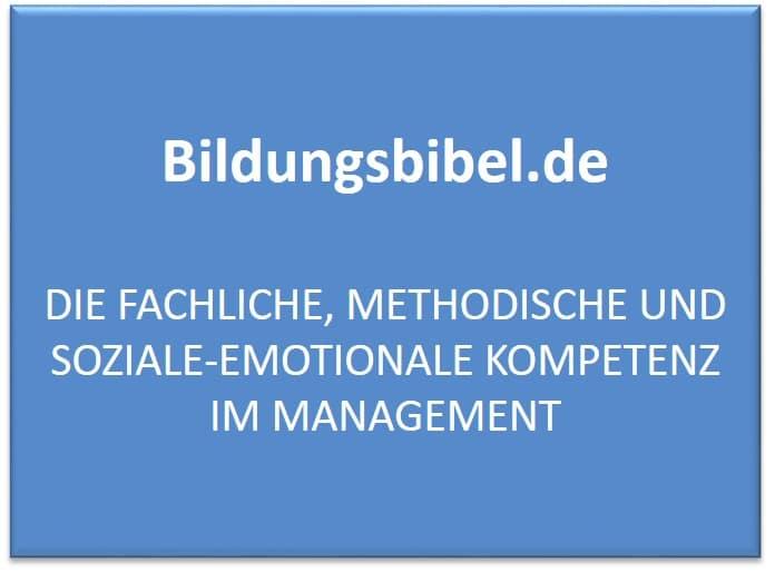 Die fachliche, methodische und soziale-emotionale Kompetenz im Management