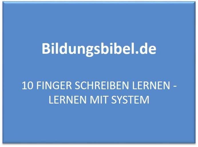 10 Finger schreiben lernen - Lernen mit System