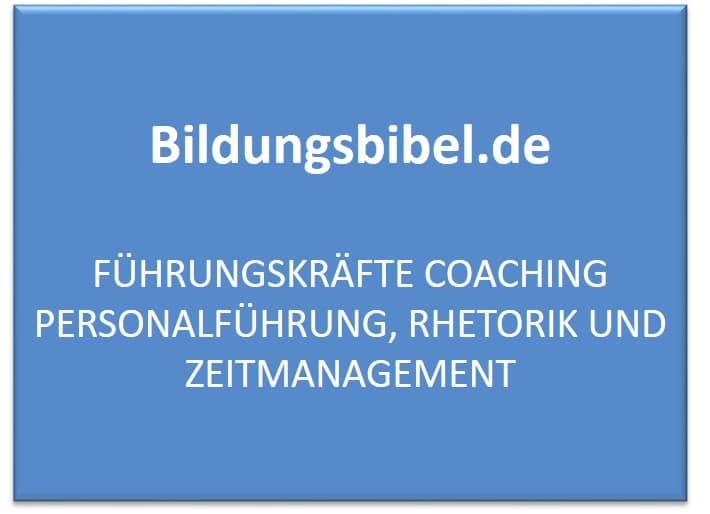 Führungskräfte Coaching Personalführung, Rhetorik und Zeitmanagement