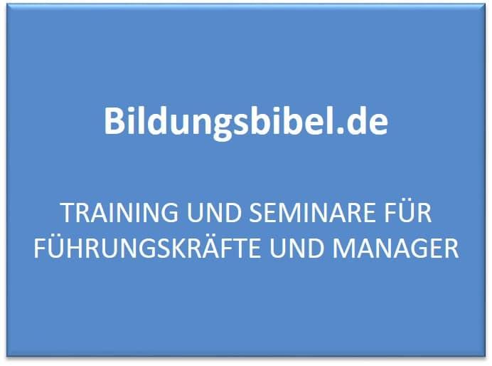 Training und Seminare für Führungskräfte und Manager