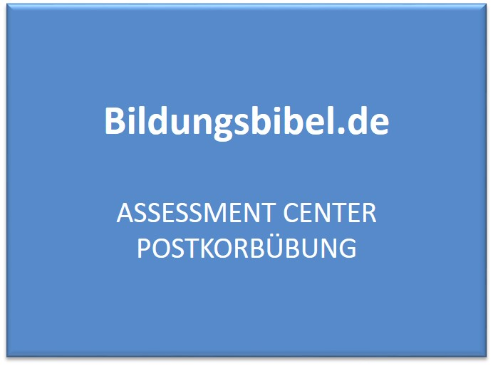 Assessment Center Postkorbübung - AC Vorbereitung