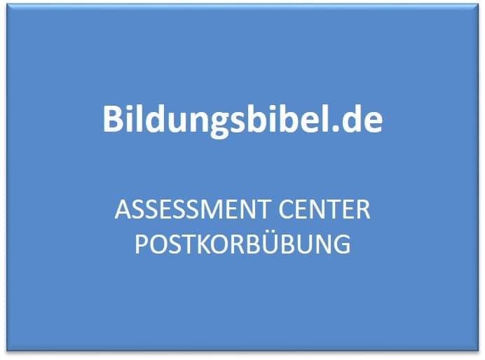Assessment Center Postkorbübung - AC Vorbereitung