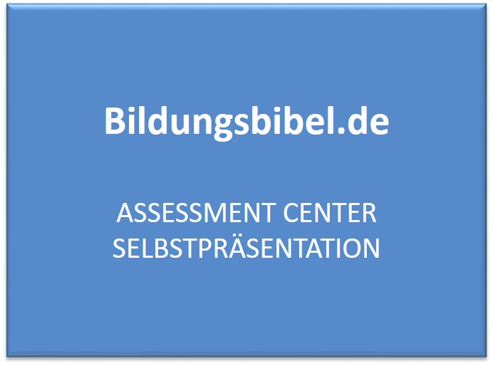 assessment center selbstprsentation - Selbstprasentation Muster