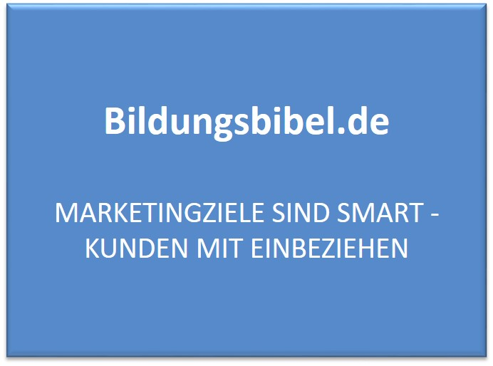 Marketingziele und das SMART-Konzept sowie weitere Ziele des Marketing