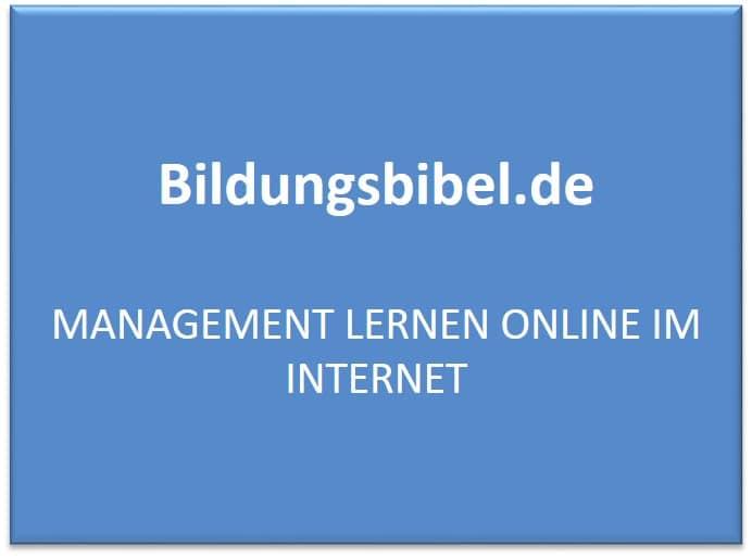 Management lernen online im Internet