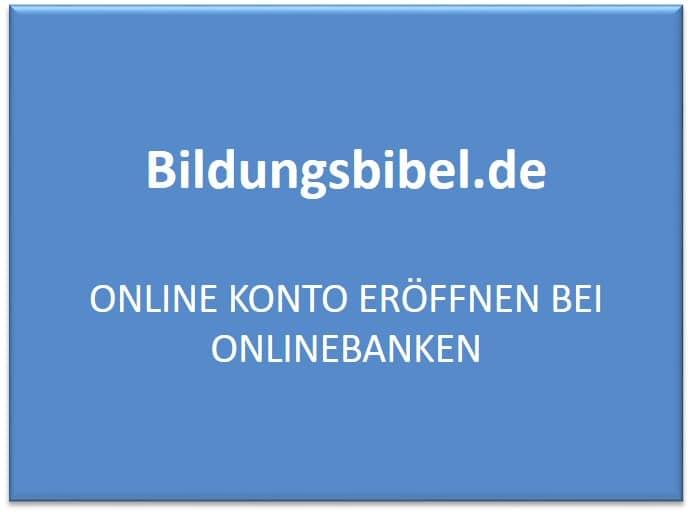 Online Konto eröffnen bei Onlinebanken