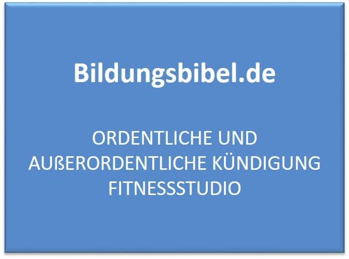 ordentliche und auerordentliche kndigung fitnessstudio und was sie beachten sollten - Auserordentliche Kundigung Muster