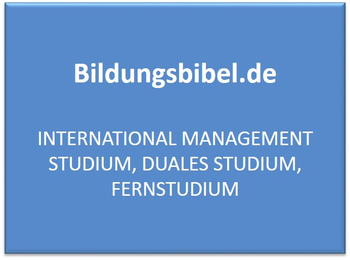 International Management Studium, Duales Studium, Fernstudium