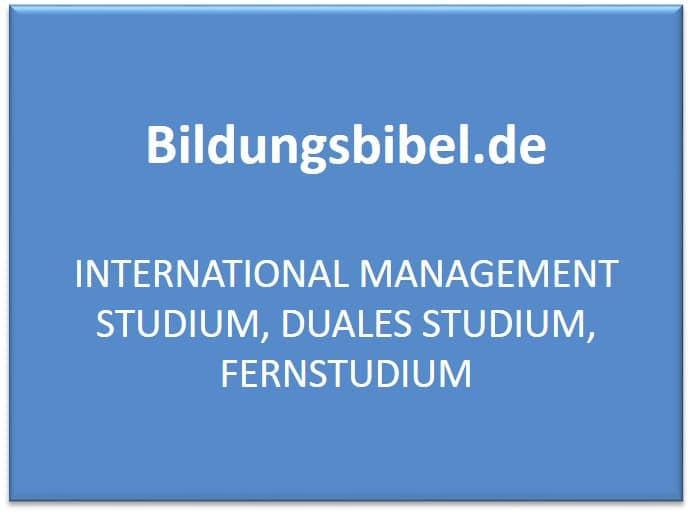 International Management Studium, Duales Studium, Fernstudium, Voraussetzung, Perspektiven und Inhalte