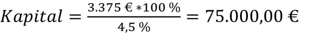 Das Kapital berechnen Beispiel