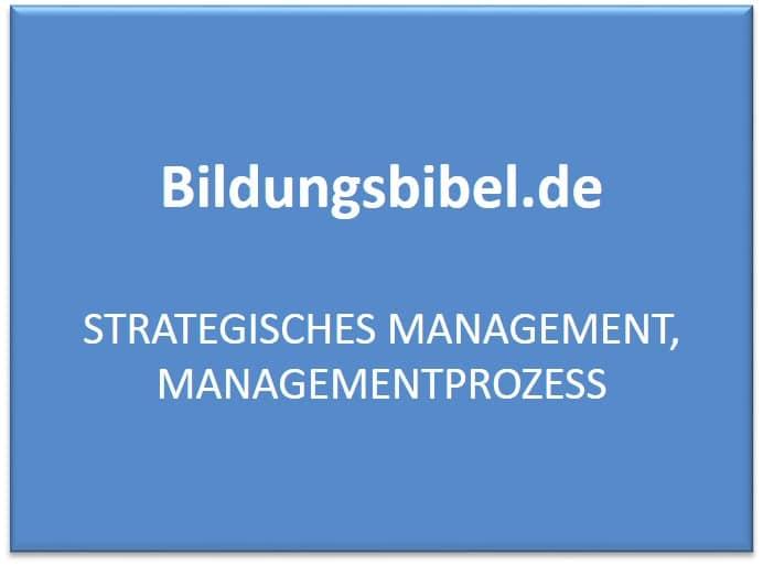 Strategisches Management und der Managementprozess