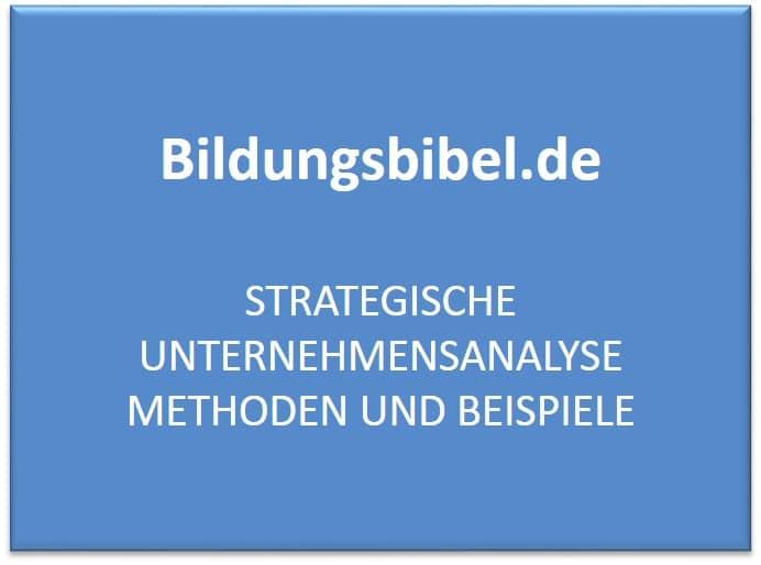 Strategische Unternehmensanalyse Methoden und Beispiele