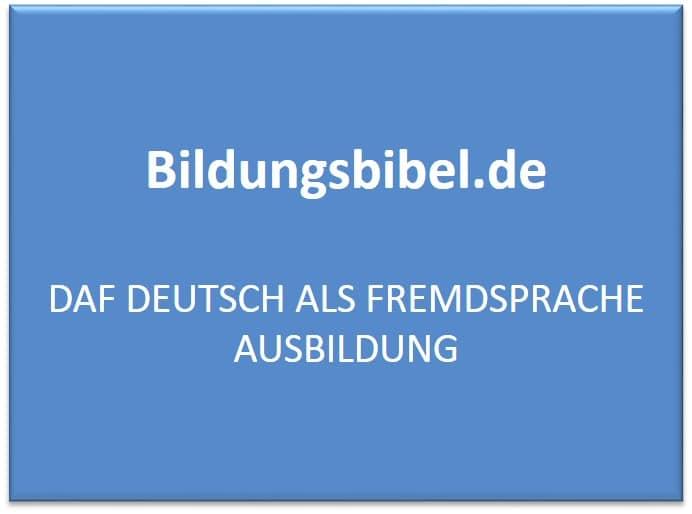 DaF Deutsch als Fremdsprache: Die Ausbildung der DaF Lehrer