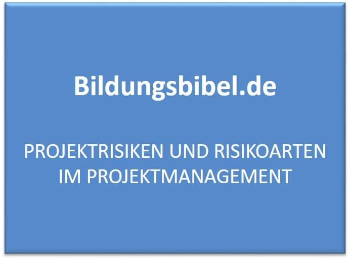 Projektrisiken und Risikoarten im Projektmanagement