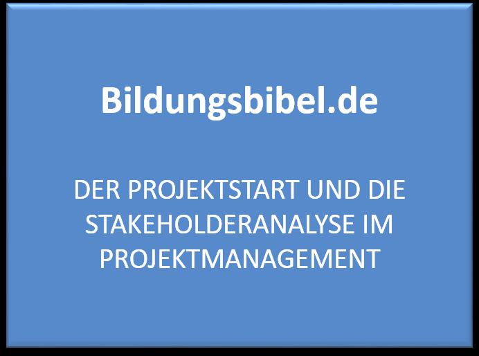 Der Projektstart und die Stakeholderanalyse im Projektmanagement