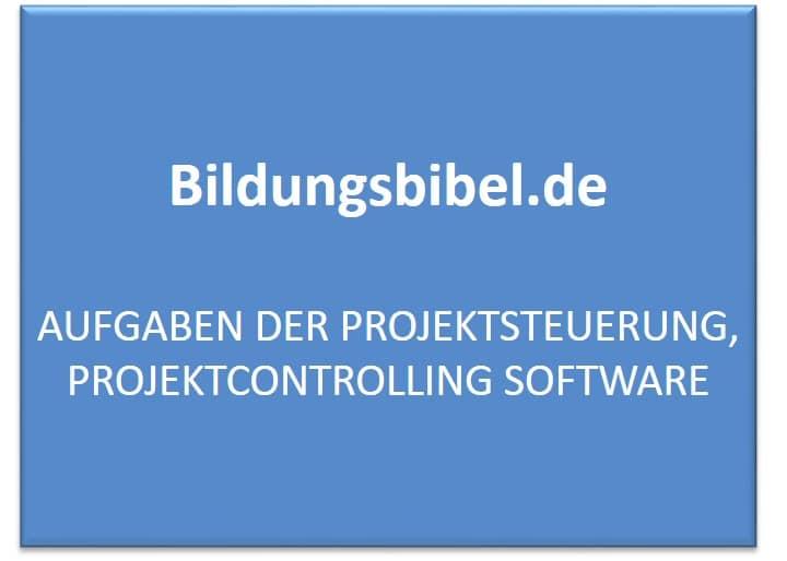 Aufgaben der Projektsteuerung, Projektcontrolling Software