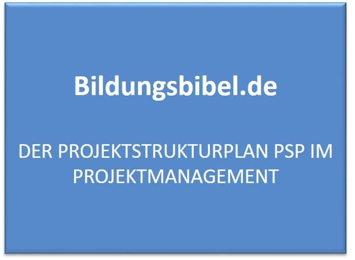 Projektstrukturplan PSP, Aufbau, Ablauf, Gliederung, Projektmanagement