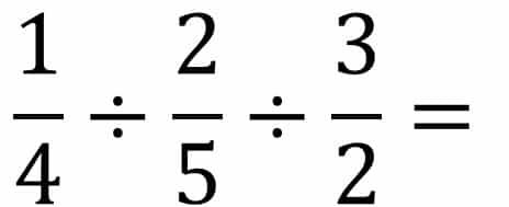 Die Anleitung Bruchrechnung Beispiel Division  oder Teilen - Teil 1