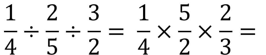 Die Anleitung zur Bruchrechnung Beispiel Division  oder Teilen - Teil 2 - Kehrwert bilden