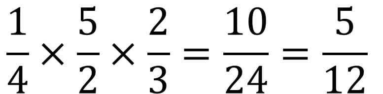 Die Anleitung zur Bruchrechnung mit Beispiel für die Division oder Teilen - Teil 3 - Mit Kehrwert multiplizieren