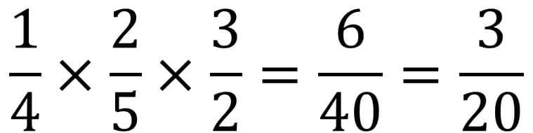 Anleitung Bruchrechnung Beispiel Multiplikation / Mal - Teil 2