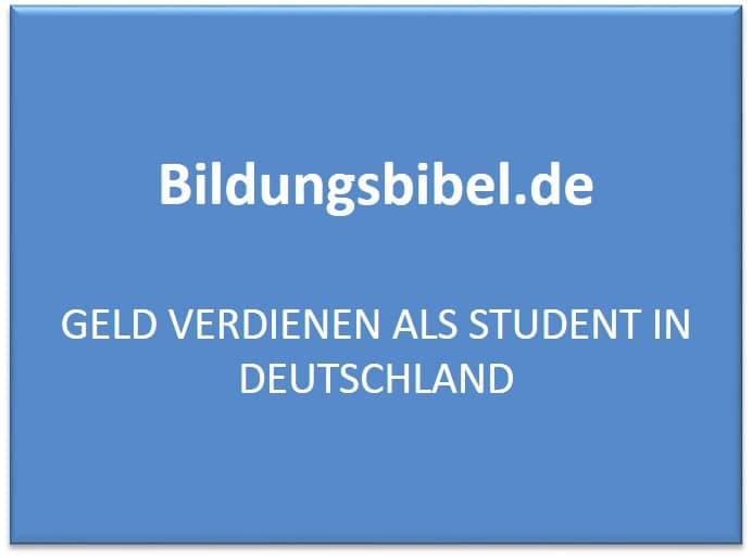 Geld verdienen als Student in Deutschland