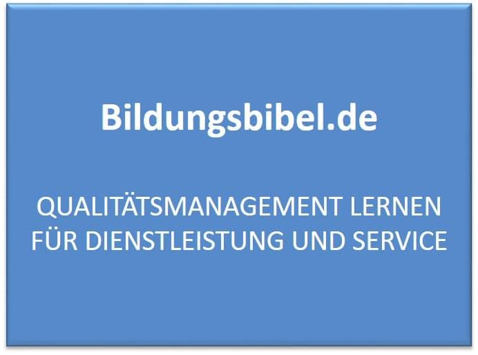 Qualitätsmanagement lernen für Dienstleistung und Service