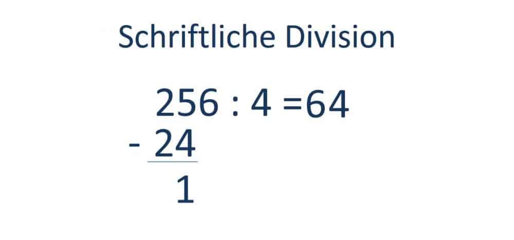 Die schriftliche Division, Teilen, Schritt 3, Berechnung Rest der Division