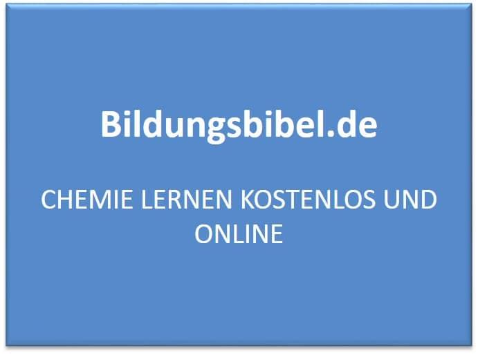 Chemie lernen kostenlos, online, Chemie Übungen Schule ...