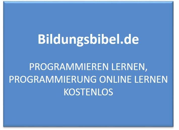 Programmieren lernen, Programmierung online lernen kostenlos