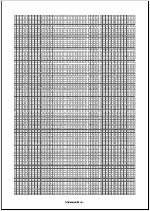 Gratis Millimeterpapier kostenlos downloaden und PDF ausdrucken
