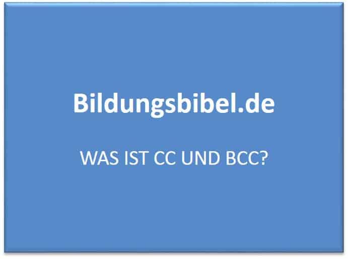 Was Ist Bcc