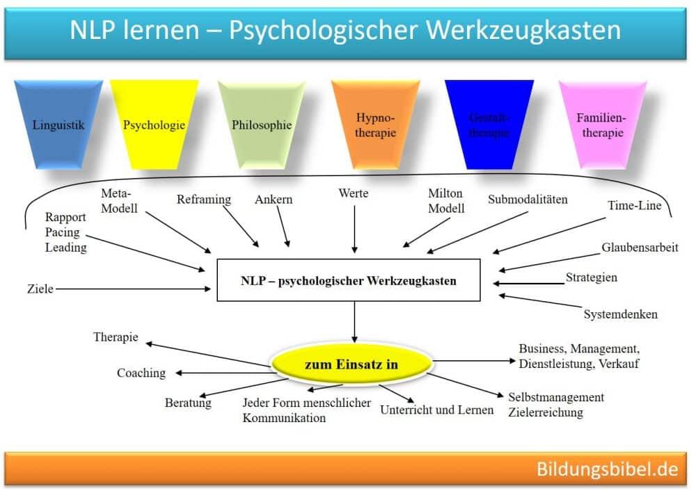 NLP der psychologische Werkzeugkasten, Formate, Methoden, Techniken.