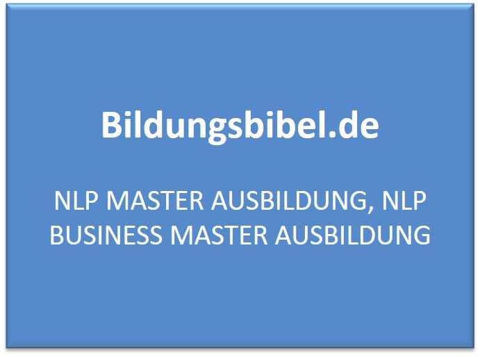 NLP Master Ausbildung, NLP Business Master Ausbildung