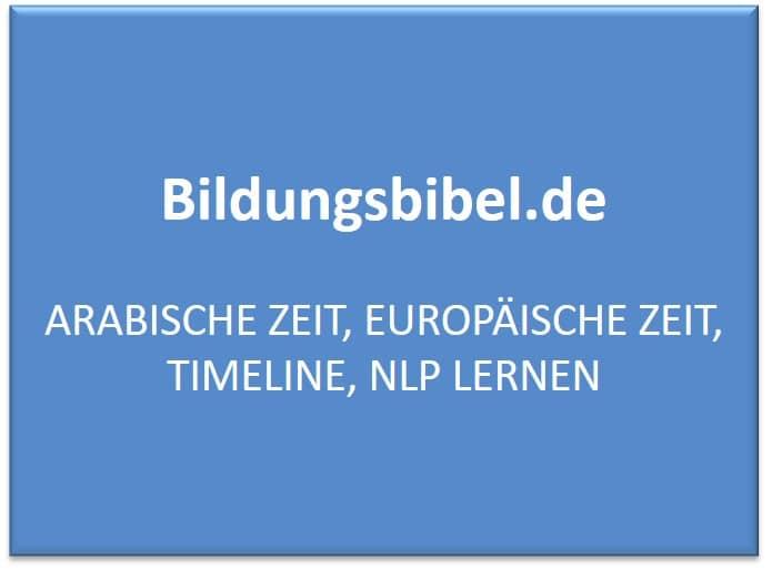 Arabische Zeit, europäische Zeit, Timeline, NLP lernen